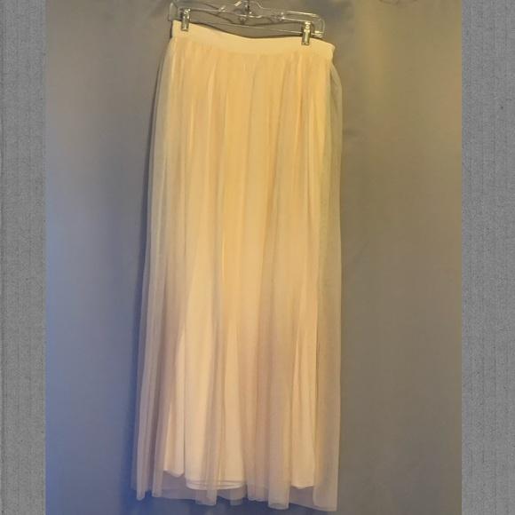 Long Ombré Tulle Skirt